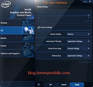 Best 3D Settings for Intel Graphic Media Accelerator/ nVidia and ATI
