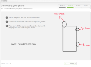 how to put sony xperia pro in download mode