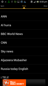 News and Events channels on Sybla TV