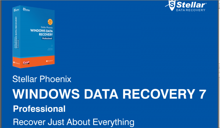 [Review]Stellar Phoenix Windows Data Recovery 7- Professional