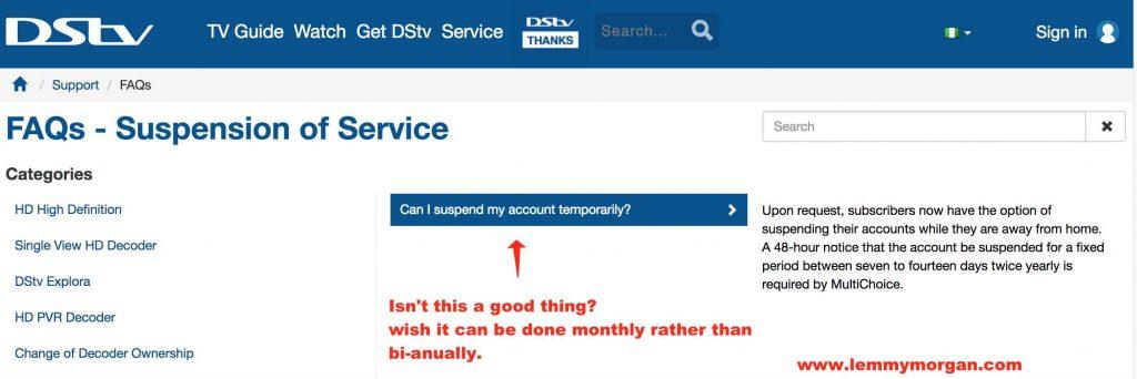 Startimes paybyday vs Dstv active service suspension