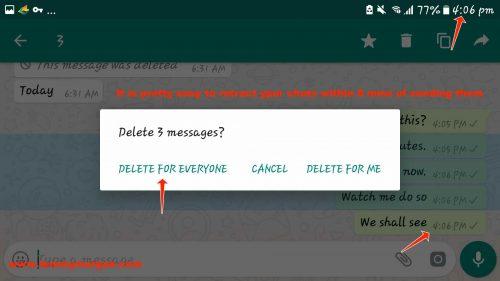 retract WhatsApp chats