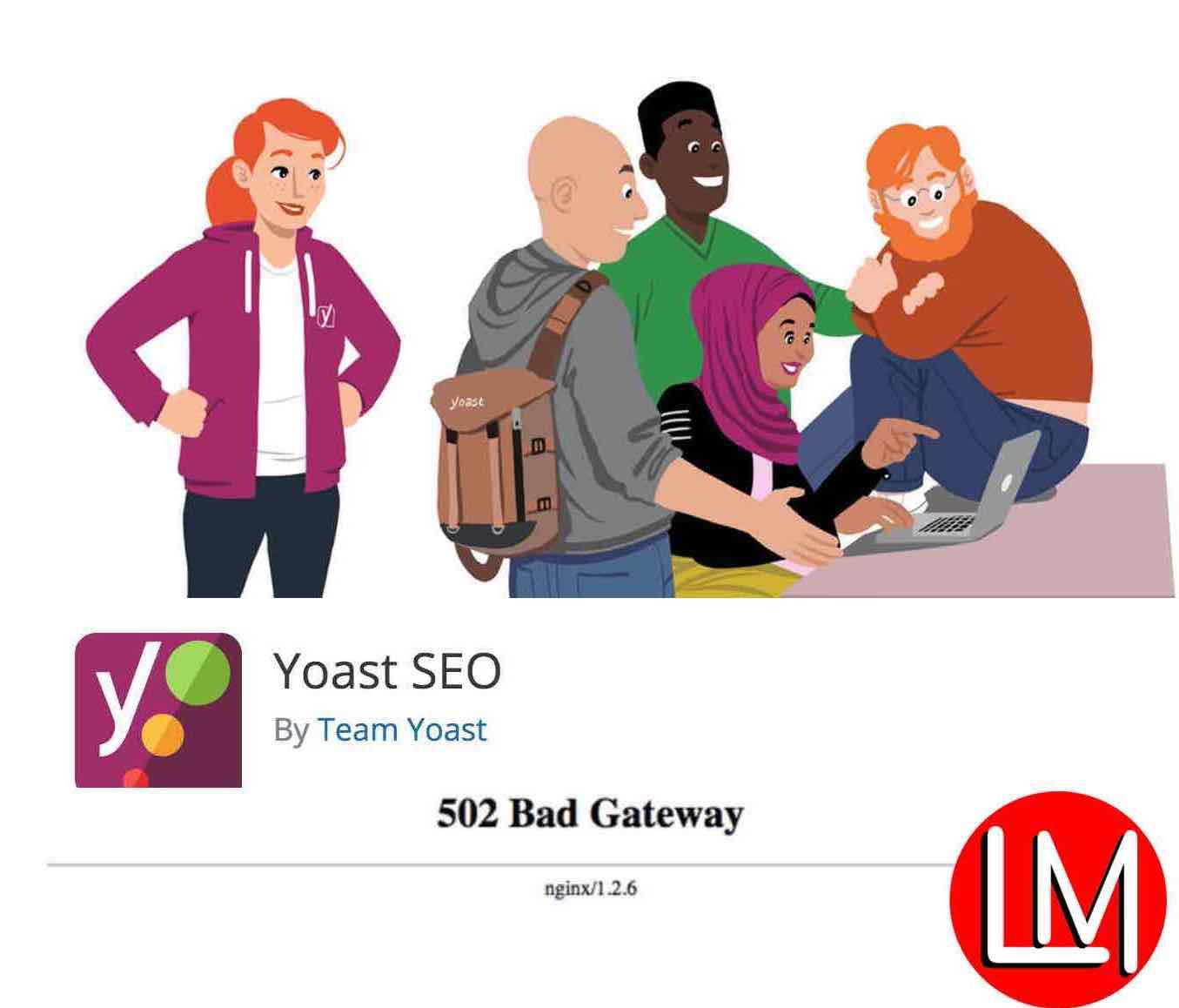 500/502 Yoast sitemap errors.