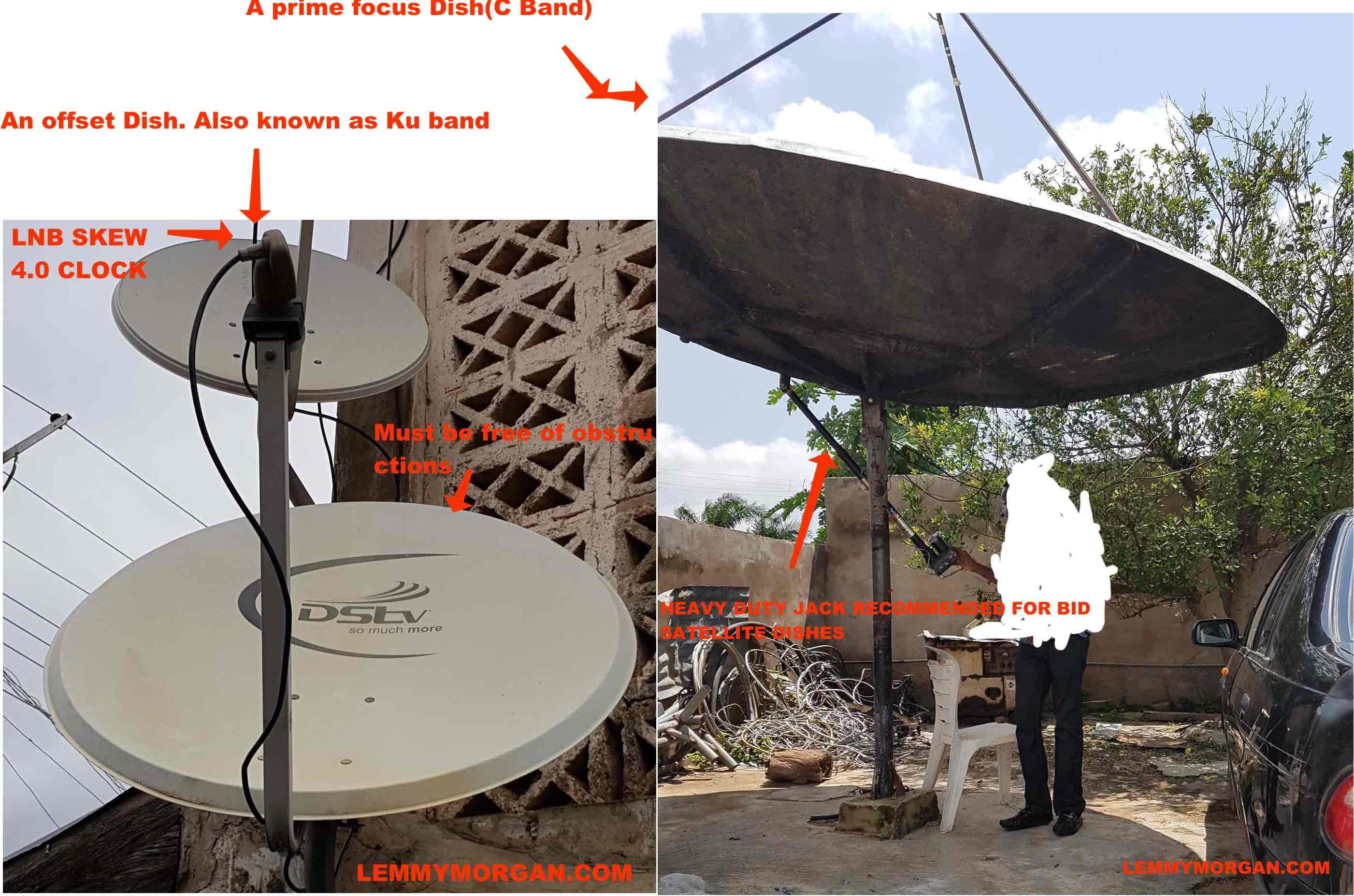Manually track a satellite dish