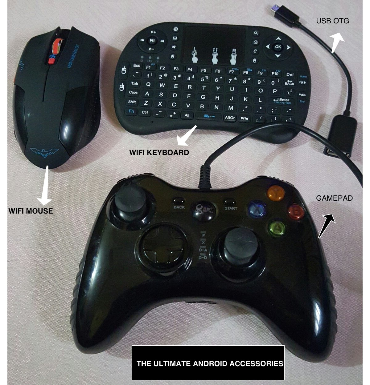 mouse, keyboad and gamepad for android