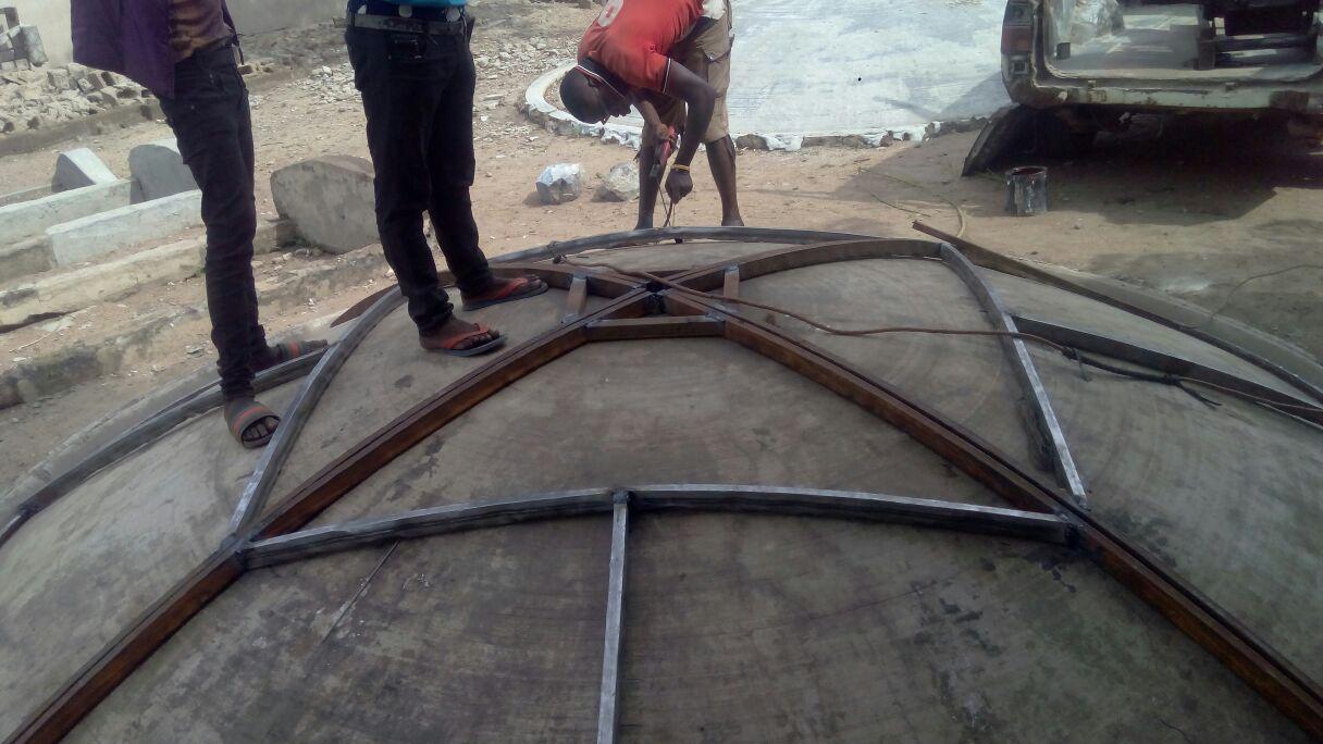 fibre dish construction