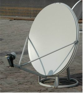 This is a ground mount satellite dish
