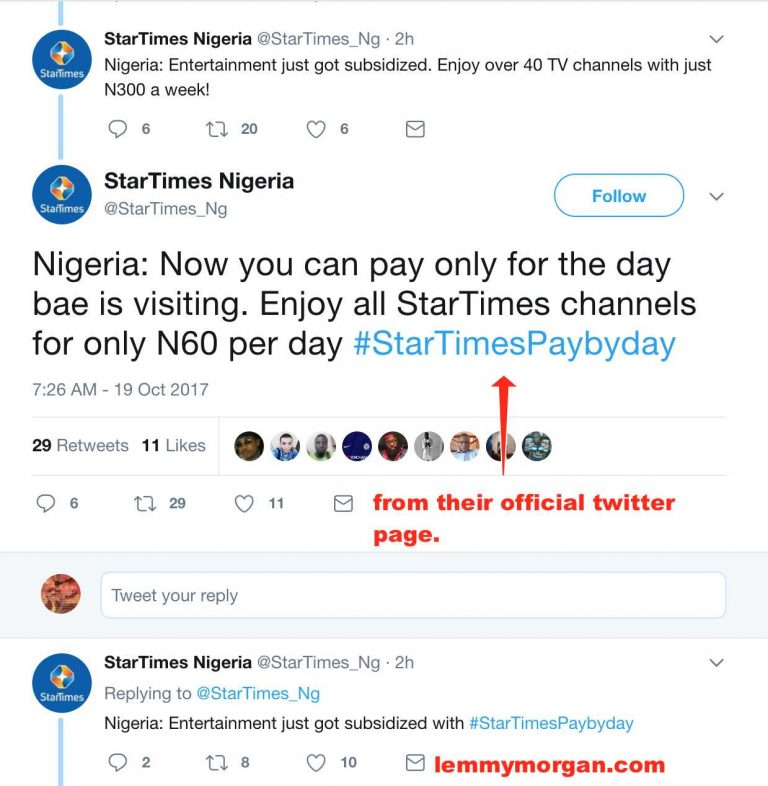 Startimes introduced paybyday even as DStv has reconfirmed option to suspend your subscription