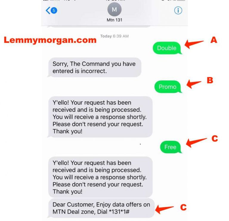 Get double your data recharge on MTN Nigeria via MTN Deal zone