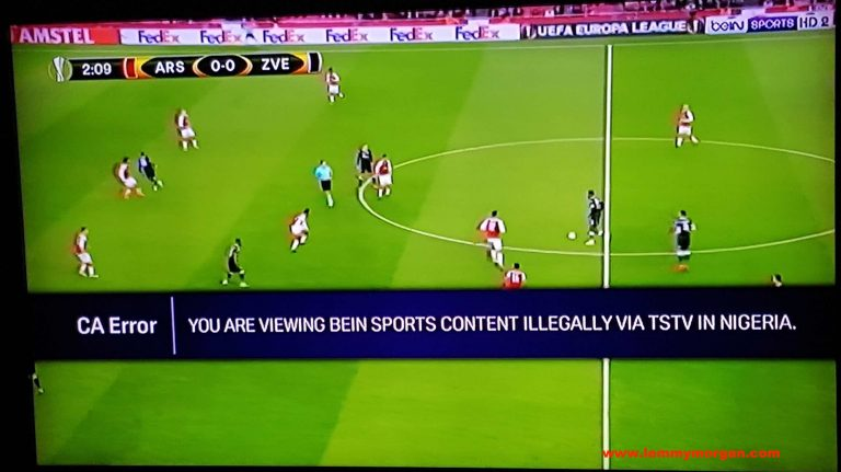 [Breaking] Bein sports switched off their channels on TSTV during UEL-This is why
