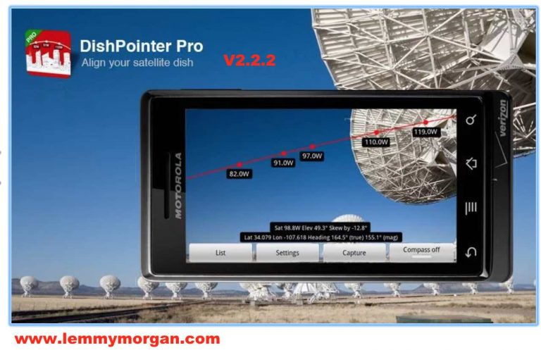 DishPointer Pro helps you find the satellite every time, fast and easy