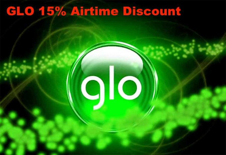 Glo 15% discount Airtime sales: buy 2000 airtime for #1,700, 10k airtime for #8,500 and so on