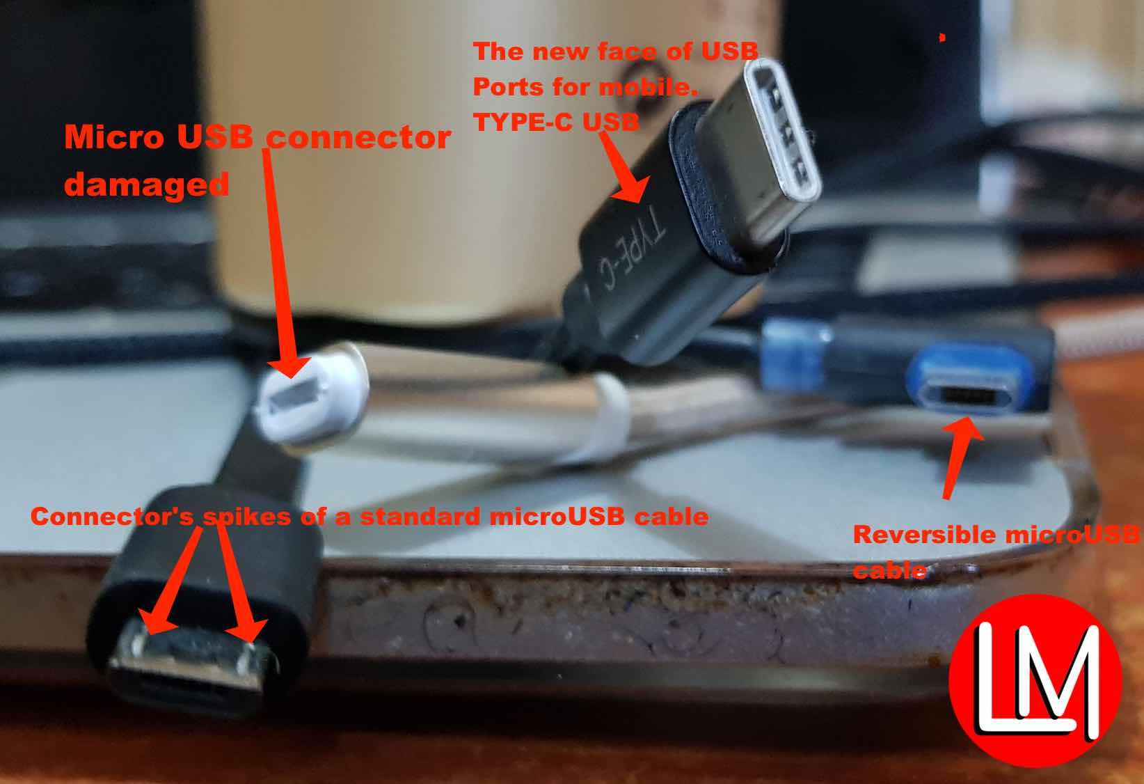 repair faulty micro USB port:cable
