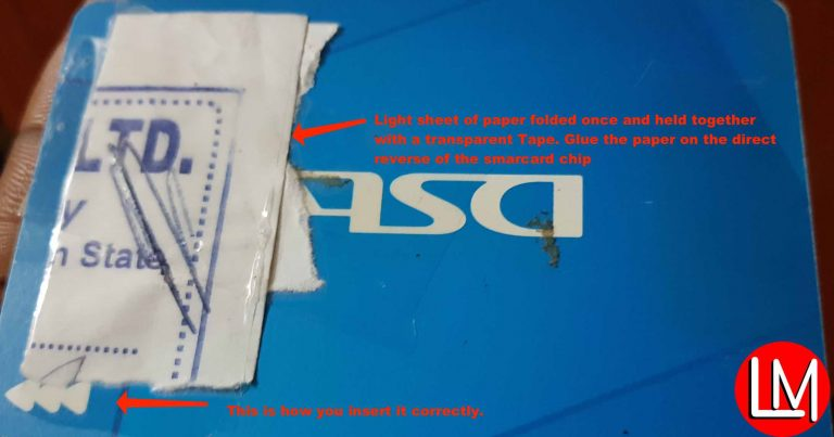 fix DStv faulty Smartcard errors codes like E04-4, E05 and E06-4 without visiting DStv office