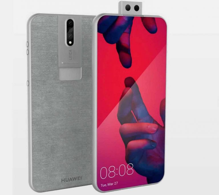 """Huawei P30 with a killer concept/design:Comes with 3D dual """"lift lens"""" in the front and rear camera"""