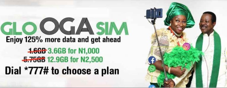How new and existing glo customers can enjoy 125% data bonus on Glo Oga Sim(get 3.6gb for #1,000)