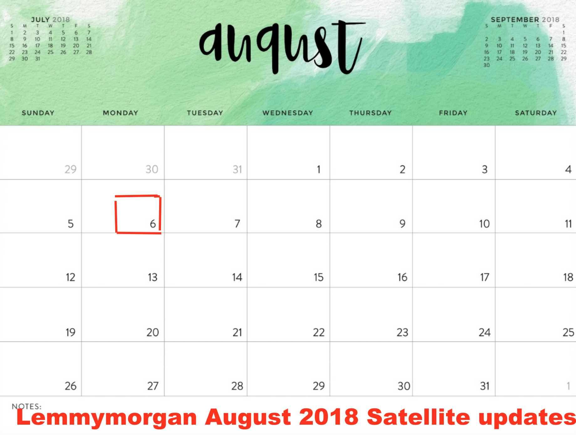 Lemmy morgan update August 2018