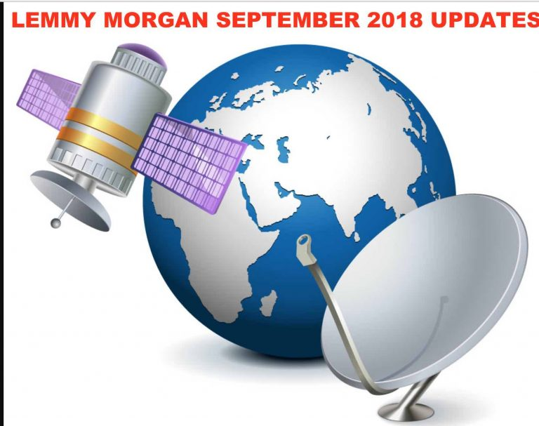 Lemmy Morgan(UEFA league) September 2018 Update on Satellite TV, IPTV, F-T-A cheap data & lots more