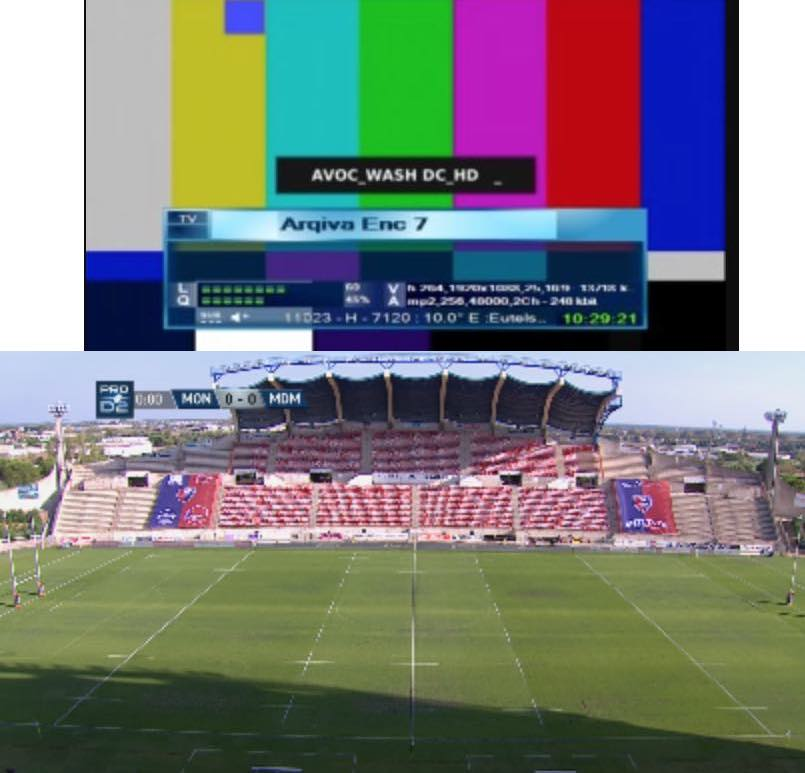 Live sports feed channels Sept/Oct 2018