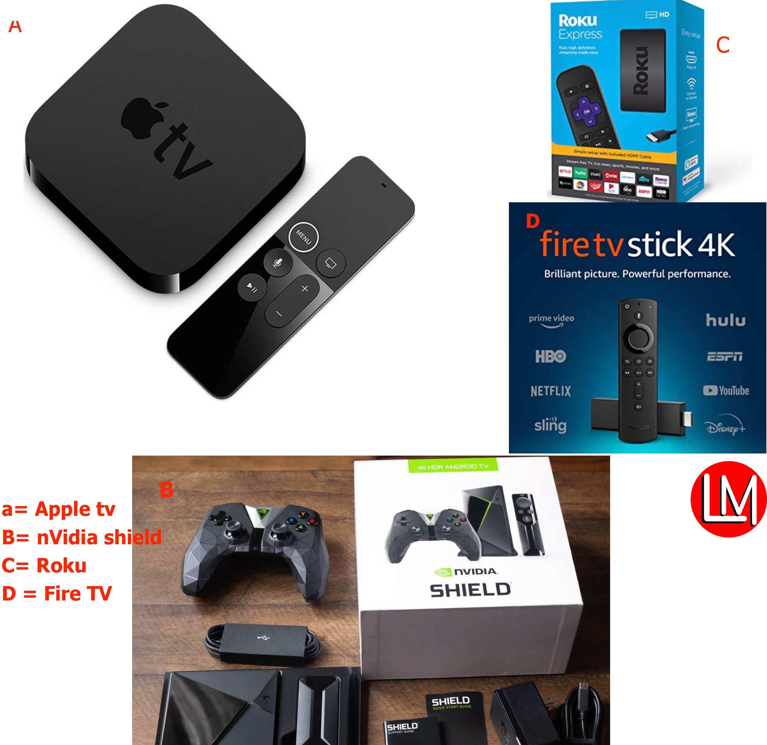 Apple TV vs Nvidia Shield vs Fire TV vs Roku