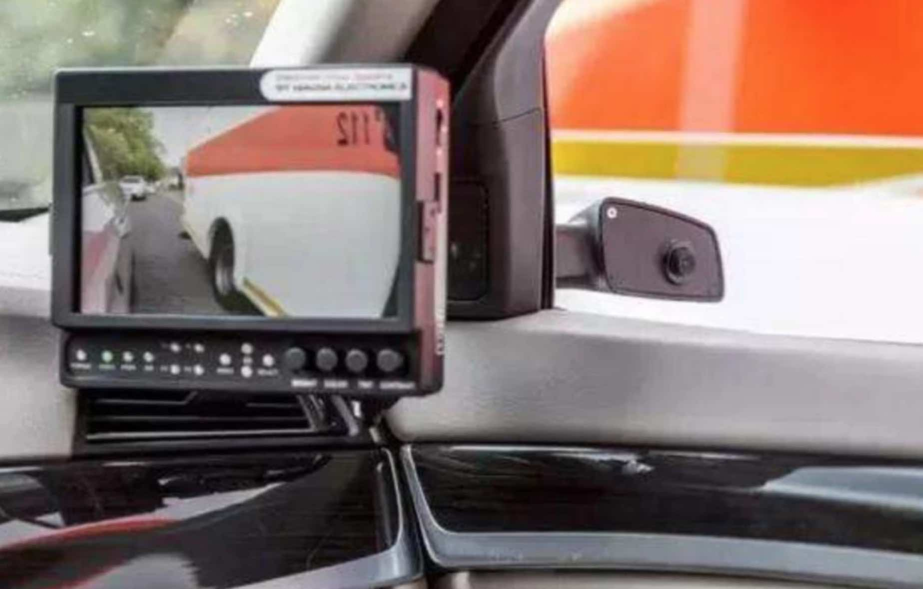 side-view mirror backup camera and LCD display